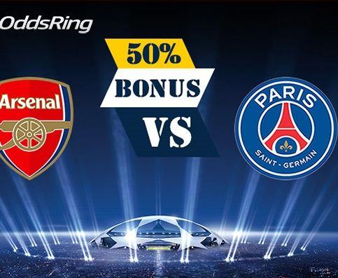 Zdobądź 50 zł na Arsenal – PSG!