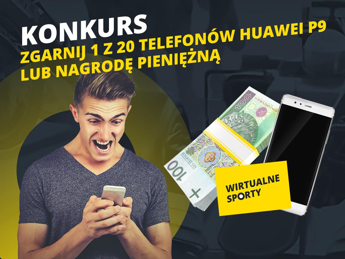 Wirtualne Sporty w aplikacji mobilnej Fortuny i konkurs – do wygrania 20x Huawei P9!